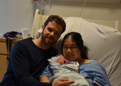 First Picture of Samantha and her parents.