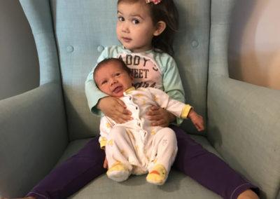 Newborn Samantha & Cassandra.